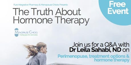 The Truth about Hormone Therapy with Dr. Leila Sahabi tickets