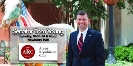 South Carolina Senator Tom Young is September 24 Luncheon guest tickets