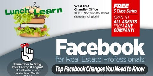 Facebook for Real Estate Professionals 3 Class Series - Sept 19th, 26th, & Oct 2nd