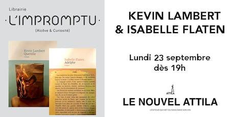 Rencontre avec Kevin Lambert et Isabelle Flaten billets