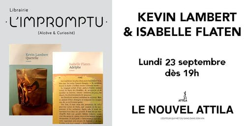 Rencontre avec Kevin Lambert et Isabelle Flaten