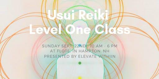 Usui Reiki Level One Class