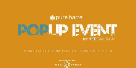 Pure Barre Pop Up - For HER tickets
