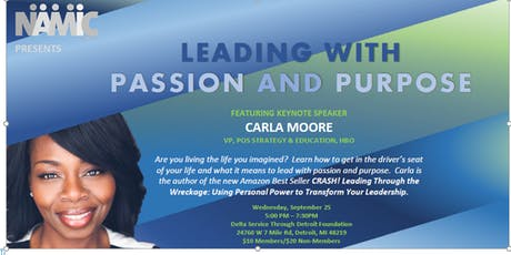 Leading with Passion and Purpose by Keynote speaker, Carla Moore tickets