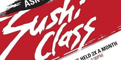 Bottle Rocket Sushi Making Class Saturday September 28th, 2019, 1:00 pm