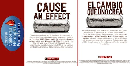 Fundraiser at Chipotle for Central California Hemophilia Foundation (CCHF) tickets