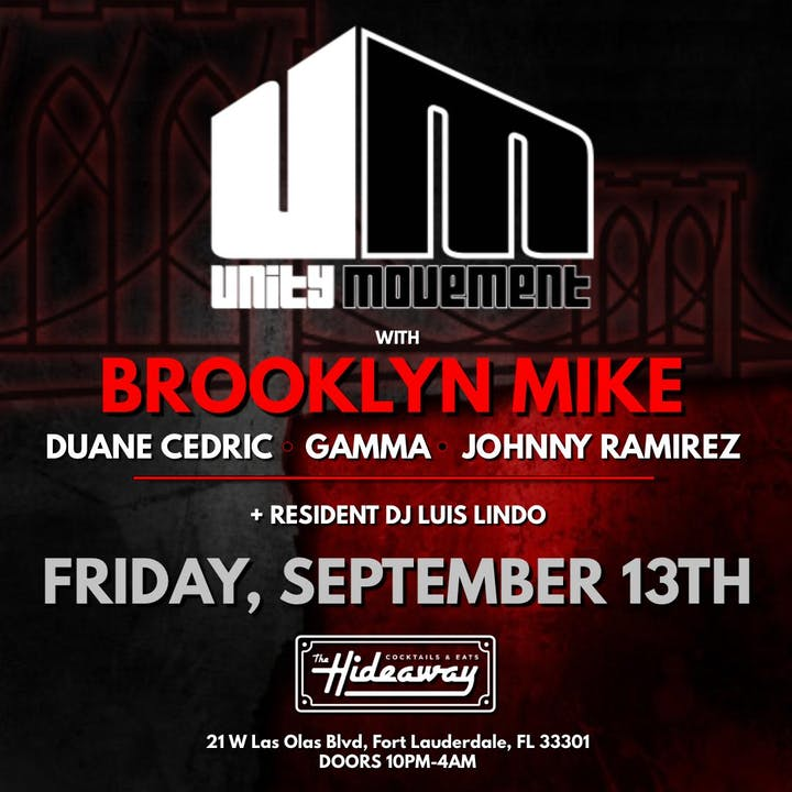 Unity Movement celebrates Brooklyn Mike's Birthday Tickets