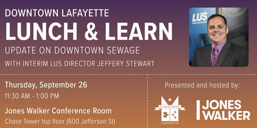 Downtown Lunch & Learn: Update on Downtown Sewage
