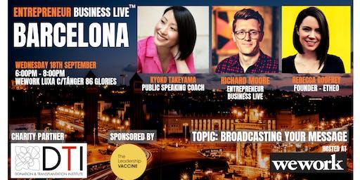 Entrepreneur Business Live Barcelona - 18th September 2019