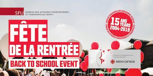 Fête de la rentrée / Back to School Event