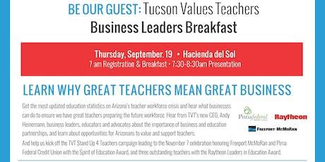 Tucson Values Teachers Business Leaders Breakfast 2019 tickets