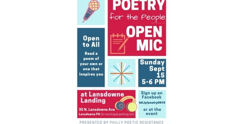 Poetry for the People Open Mic