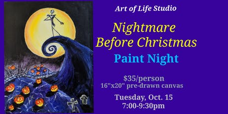 Paint Night: Nightmare Before Christmas tickets