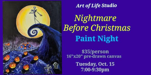 Paint Night: Nightmare Before Christmas