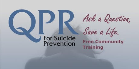 QPR - Free Community Suicide Prevention Training tickets