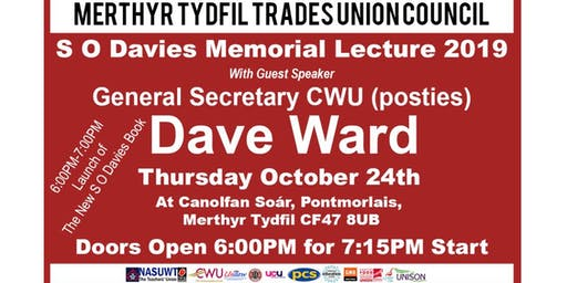 Merthyr Tydfil Trades  Union Council S O Davies 2019