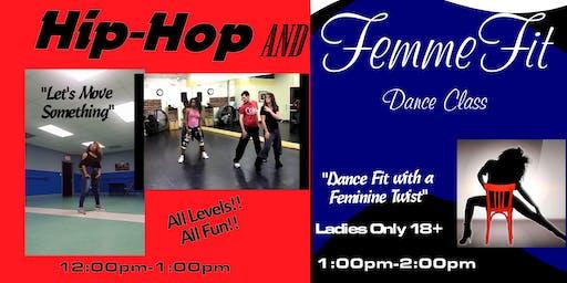 Hip-Hop OR FemmeFit Dance Single Class