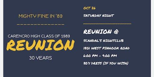 Class of 1989 Carencro High School              30 year Reunion