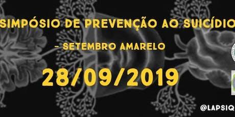 III Simpósio de Prevenção ao Suicídio - Setembro Amarelo ingressos