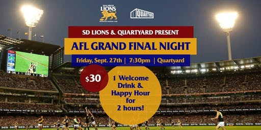 2019 San Diego Lions AFL Grand Final Viewing Party
