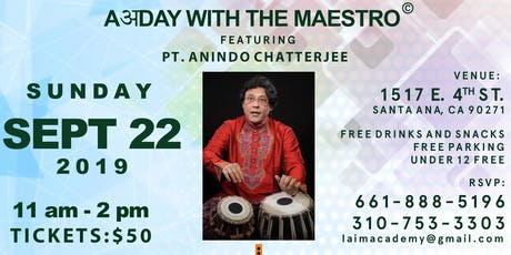 AअDay with the Maestro© featuring Pt. Anindo Chatterjee tickets
