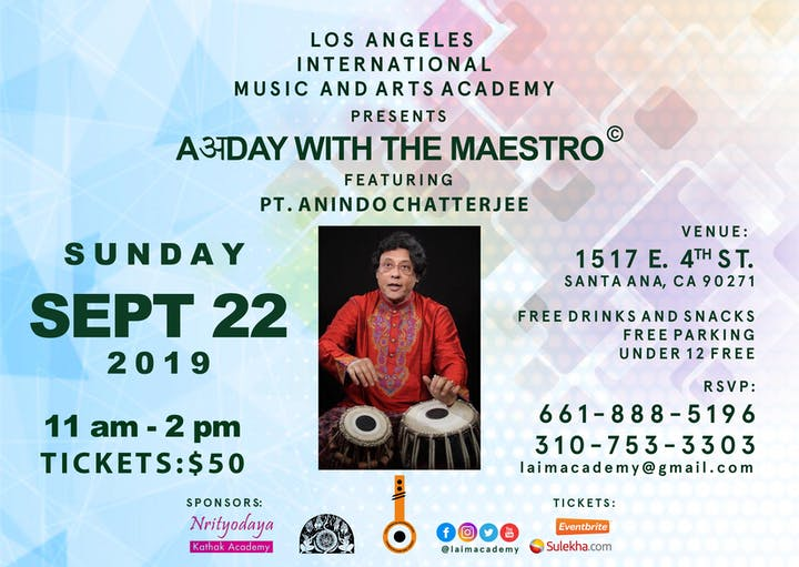 AअDay with the Maestro© featuring Pt  Anindo Chatterjee