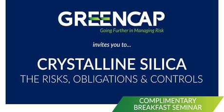 Crystalline Silica - The Risks, Obligations and Controls tickets