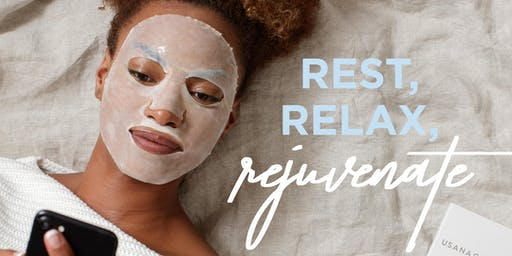 Rejuvenation event for women! Facial sheet mask - the new self-care essential