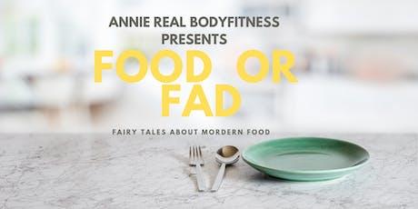 FOOD OR FAD tickets