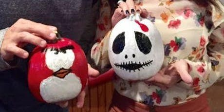 Pumpkin Painting includes 1 free drink + 10% OFF at Johnny Utahs!-Sun. Oct 27 tickets