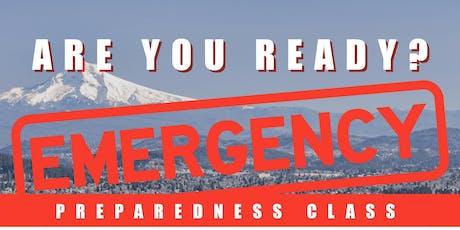 Emergency Preparedness Class tickets