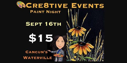 Paint Night at Cancun's in Waterville