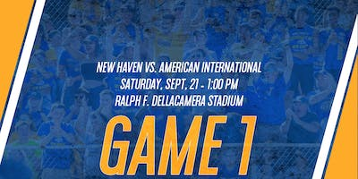 GAME 1: New Haven Football vs. AIC (Game Tickets & Preferred Parking)
