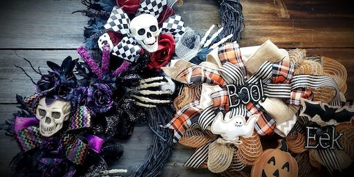 Create A Festive Wreath for Halloween $38