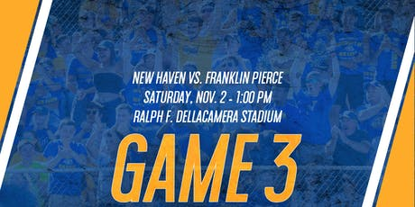 GAME 3: New Haven Football vs. Franklin Pierce (Game Tickets & Preferred Parking) ingressos