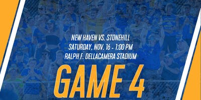 GAME 4: New Haven Football vs. Stonehill (Game Tickets & Preferred Parking)