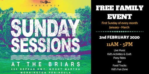 Sunday Sessions at the Briars - February 2nd 2020