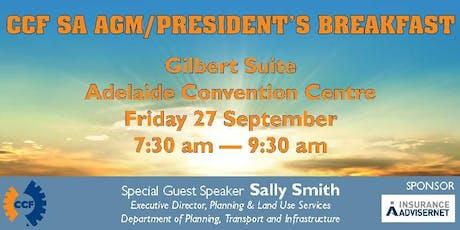 CCF SA Presidents Breakfast & AGM 2019 tickets