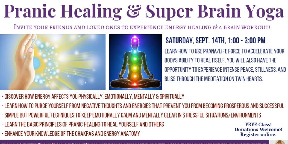 SuperBrain Yoga & Pranic Healing Tickets, Sat, Sep 14, 2019