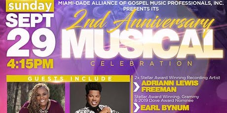 MDA 2nd Anniversary Musical Celebration Honoring Gospel AM 1490 WMBM tickets