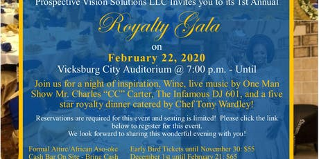 PVS First Annual Royalty Gala tickets