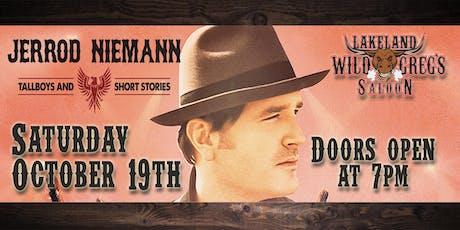 Jerrod Niemann live at Wild Greg's Saloon Lakeland tickets