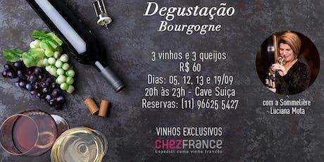 Degustação especial de vinhos da Bourgogne ingressos
