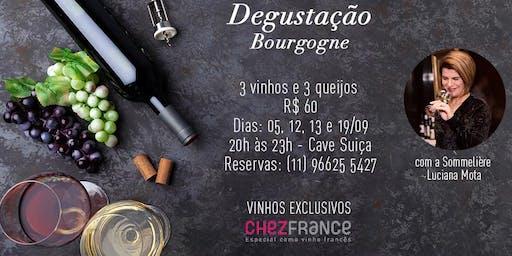 Degustação especial de vinhos da Bourgogne