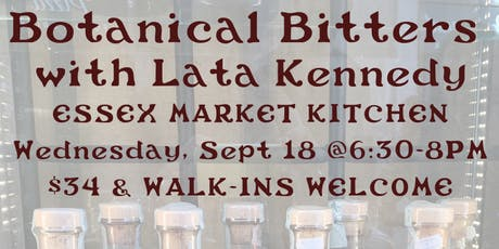Botanical Bitters with Lata Kennedy tickets