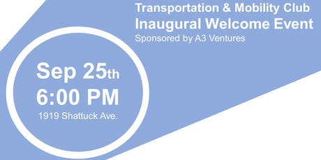 Haas Transportation and Mobility Club Welcome Event tickets
