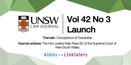 UNSW Law Journal 42(3) Launch tickets