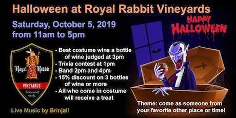 Royal Rabbit Costume Party  (Gun Powder Wine Trail Haloween Month Kickoff ) tickets