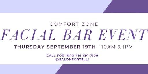 Facial Bar with Comfort Zone