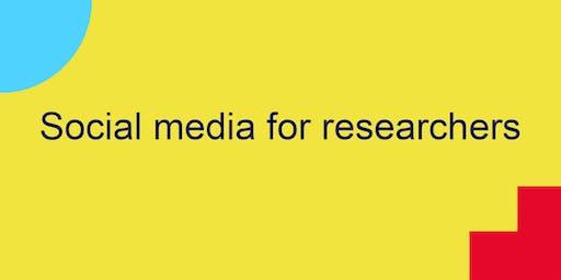Social media for researchers
